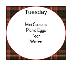 Autumn Lunch Planner - Monday - autumn lunch planner Tuesday