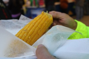 This was the healthiest thing all day. Dad's corn on the cob. And it still had some butter on it.