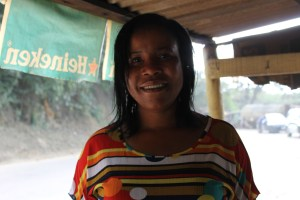 The lovely Janet. The maker of the best fried fish I've ever eaten.