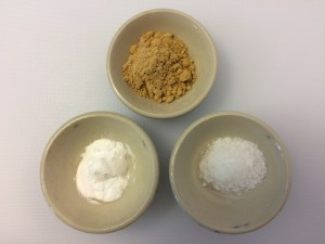Ground Ginger, Salt, Baking Soda