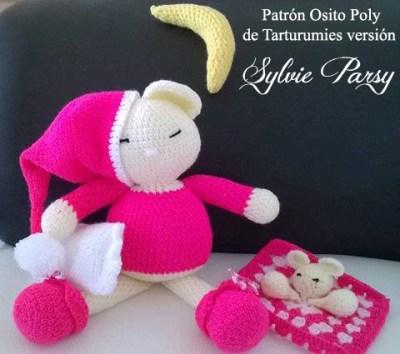 Patrón Osito Poly de Tarturumies Versión de Sylvie Parsy