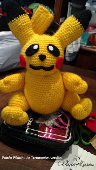 Patrón Pikachu de Tarturumies versión Vane Lareu