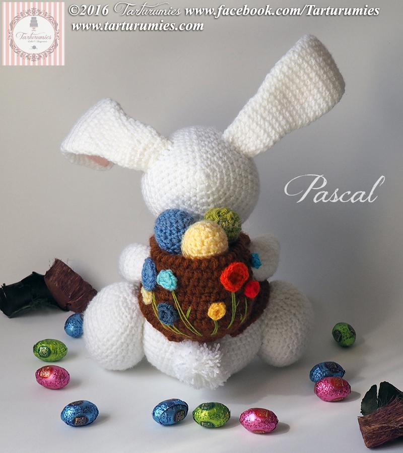 Increíble Patrones Libres Cesta De Crochet De Pascua Molde - Manta ...