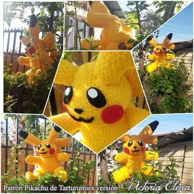 Patrón Pikachu de Tarturumies versión Victoria Elena