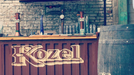 Kozel outdoor bar at Taste and Liquor
