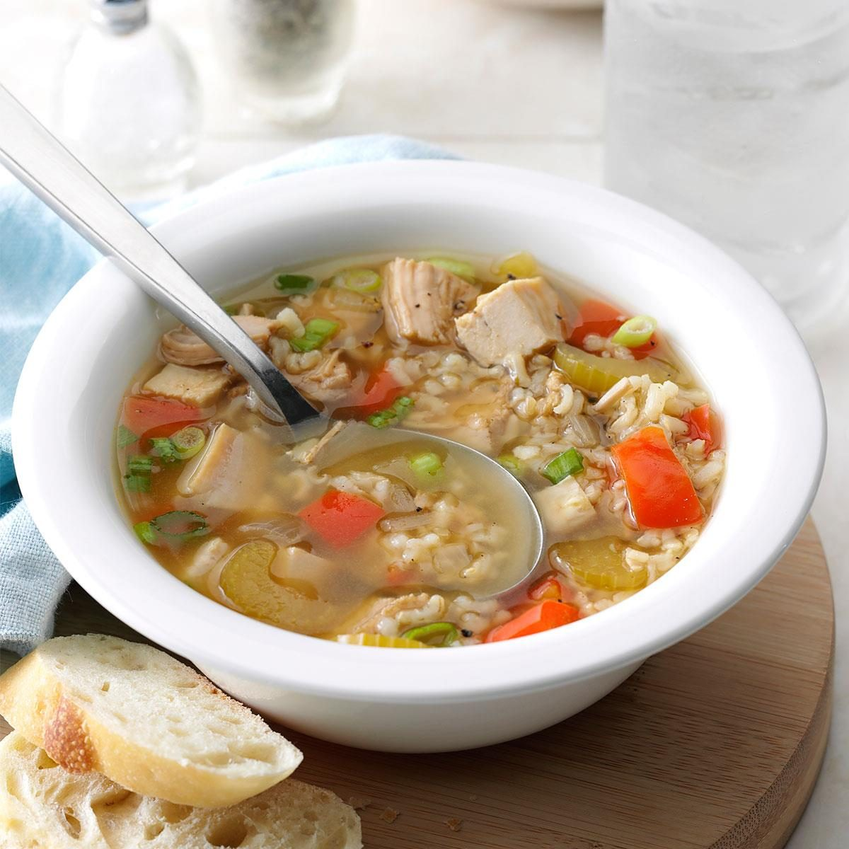 Howling Ken Broth Brown Rice Turkey Soup Exps21778 Hws133216b07 12 6bc Rms 1 Turkey Rice Soup Martha Stewart Turkey Rice Soup nice food Turkey Rice Soup