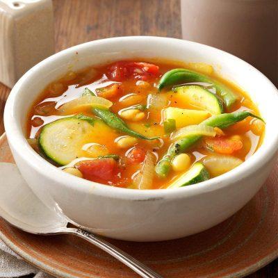 Summer Vegetable Soup Recipe | Taste of Home