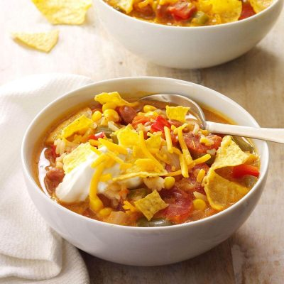 Weeknight Taco Soup Recipe | Taste of Home