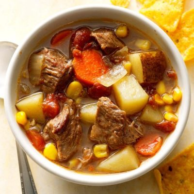 Slow-Cooked Mexican Beef Soup Recipe | Taste of Home