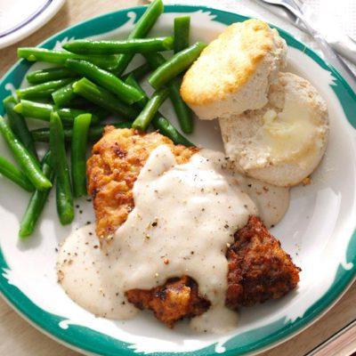 Chicken-Fried Steak & Gravy Recipe | Taste of Home