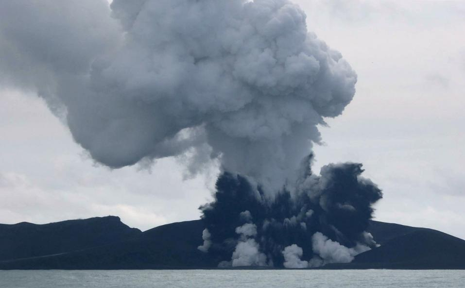 Nuku'alofa (Tonga) (AFP) – A Tongan volcano has created a substantial new island since it began erupting last month, spewing out huge volumes of rock and dense ash that has killed nearby vegetation...