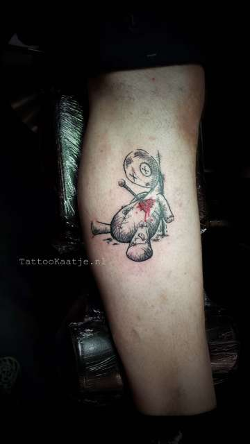 Colour - tattoo - sketchy - voodoo doll