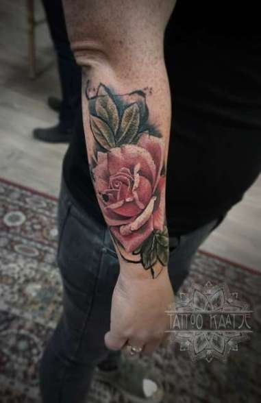 rose - tattoo - paint - abstract - realistic