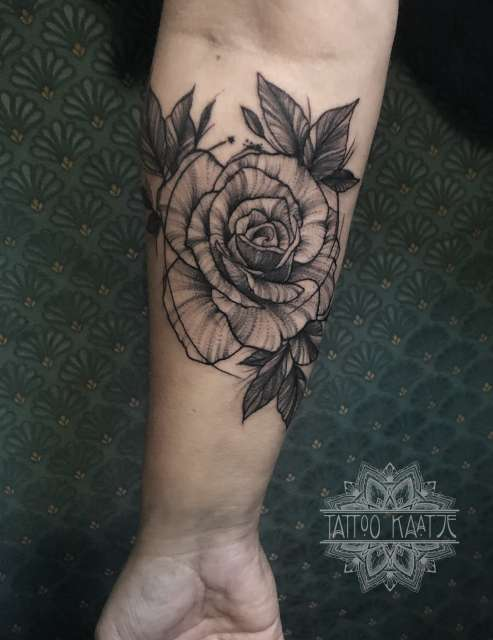 rose - tattoo - sketch - illustrated - rosetattoo