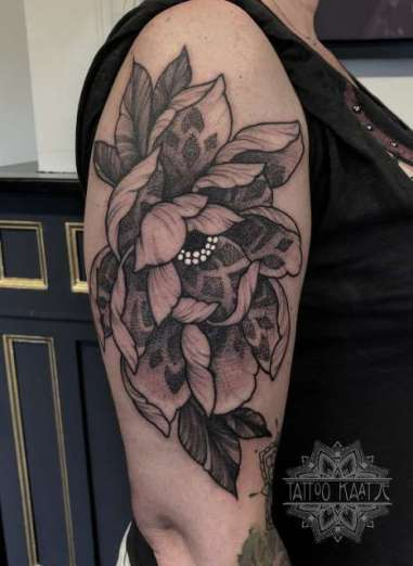 peony - peony tattoo - dotwork - mandala - tattoo