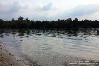 Tauchen im Baggersee Streitköpfle