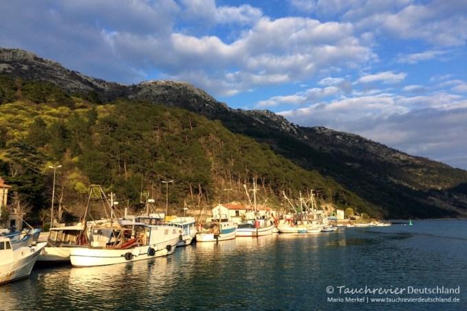 Hafen Plomin, Tauchen in Kroatien, Wracktauchen, GUE TEC1 Kurs