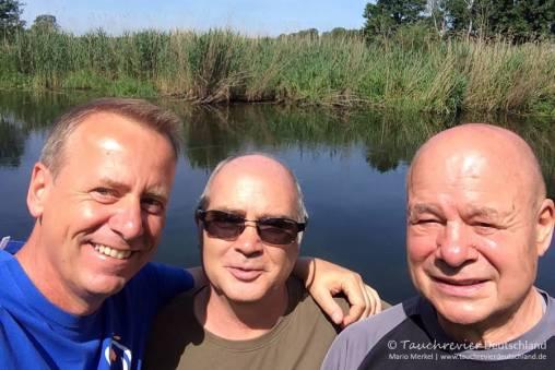 Mario, Micco, Werner, Flusstauchen, Tauchen in der Spree, Tauchen in Brandenburg