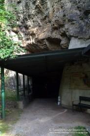 Eingang Bergwerk, Tauchen im Bergwerk Miltitz, Tauchen in Sachsen