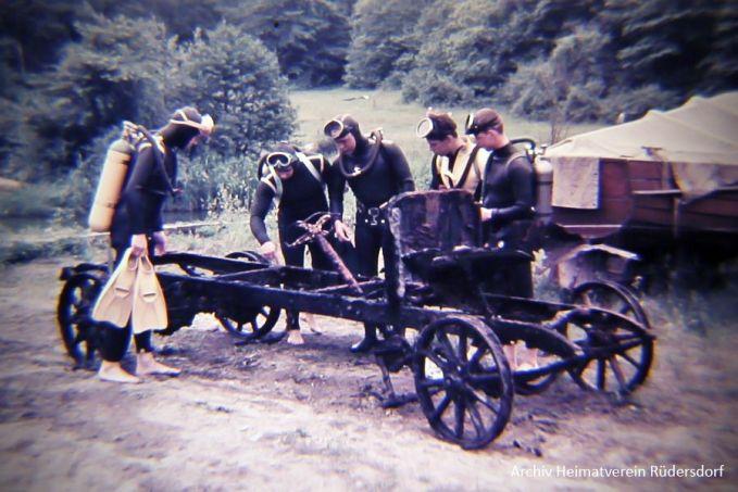 Brennabor Bj. 1910, Harry Piel, Rivalen, Tauchen im Heinitzsee, Historisches Tauchen