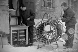 Dreharbeiten, Tauchen im Heinitzsee, Historisches Tauchen