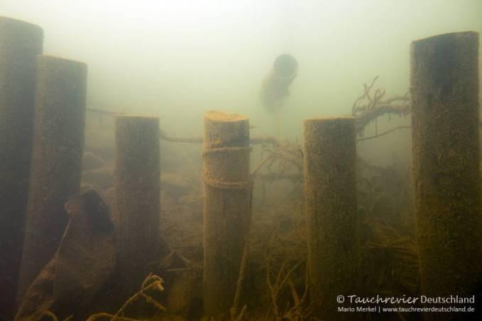 Entwässerungsgraben, Tauchen im Zwenkauer See, Tauchen in Sachsen