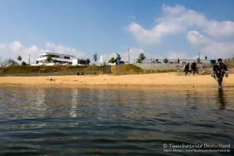 Strand, Zwenkauer See, Tauchen im Zwenkauer See, Tauchen in Sachsen