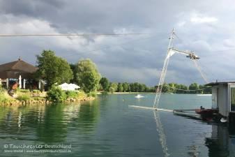 Wasserski-Anlage, Tauchen im Friedberger See, Tauchen in Bayern