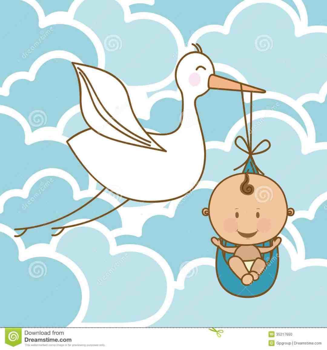 baby-arrival-design-over-clouds-background-illustration-35217650