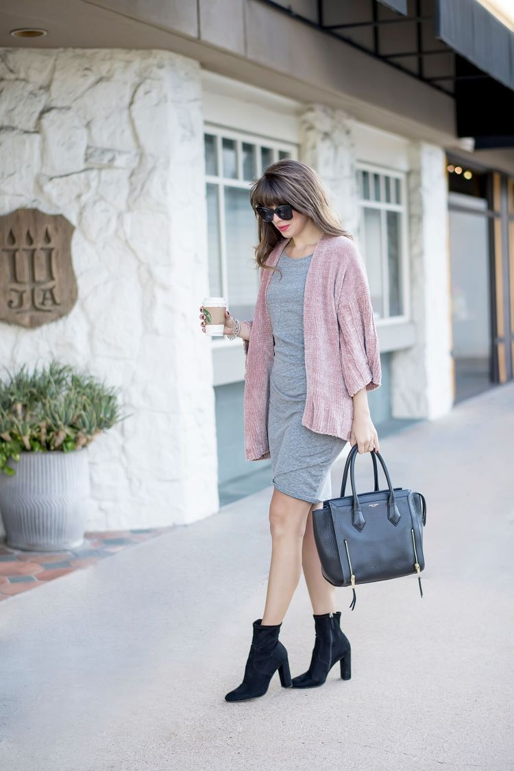The Most Versatile Dress and Chenille Cardigan