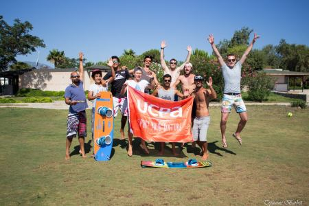 Adventured to southwestern Turkey to learn windsurfing and kite surfing with this crew.