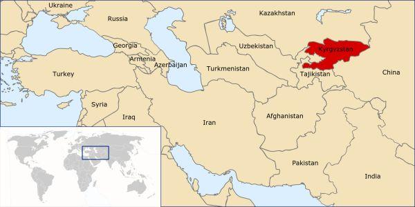 Kyrgyzstan Location