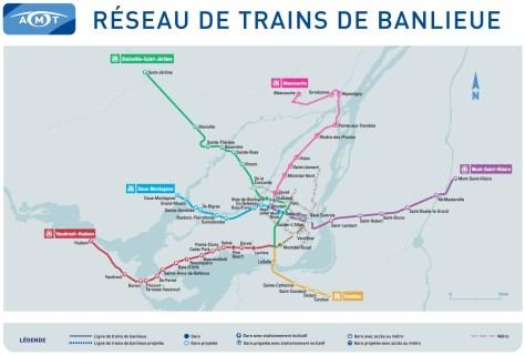 AMT commuter rail map - 2013