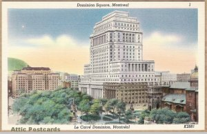 This was probably some kind of promotional postcard from the 1920s, showing the original building and the expanded tower