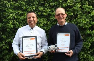 LABC Residential Site Agent of the Year Finalist Ahmet Ibrahim and winner Jan Pearce (left to right)