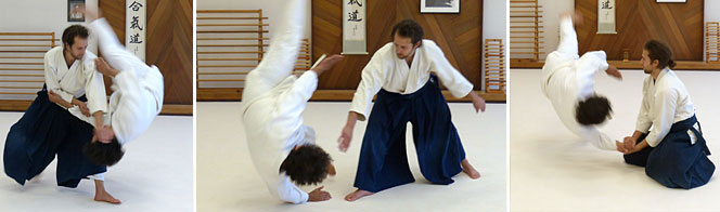 Galen David, nidan, began practicing Aikido in 2001. He has studied with students of TK. Chiba, I. Shibata, S. Endo, and H. Ikeda, Shihans. He endeavors to carry the spirit of his teachers into his daily practice. Galen's specific interests include partnered weapons practice, and learning to give dynamic, connected, ukemi to his training partners. Galen teaches adult afternoon and evening classes.