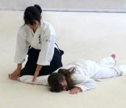 Tomoyo (nage) with Sophie (uke)