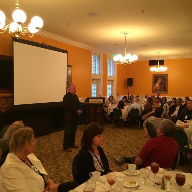 TCCTA Lobbyist Beaman Floyd addresses the dinner program of thehellip