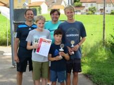 Sieger Knaben U14 Clubmeisterschaft TC Topspin Grafing Ebersberg 2016