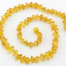 collier ambre naturel pépites miel bébé TchooC pas cher