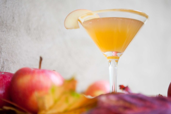 toasting fall Caramel Apple Martini
