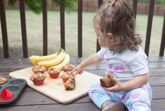 BabyChef banana oat muffins teacher-chef