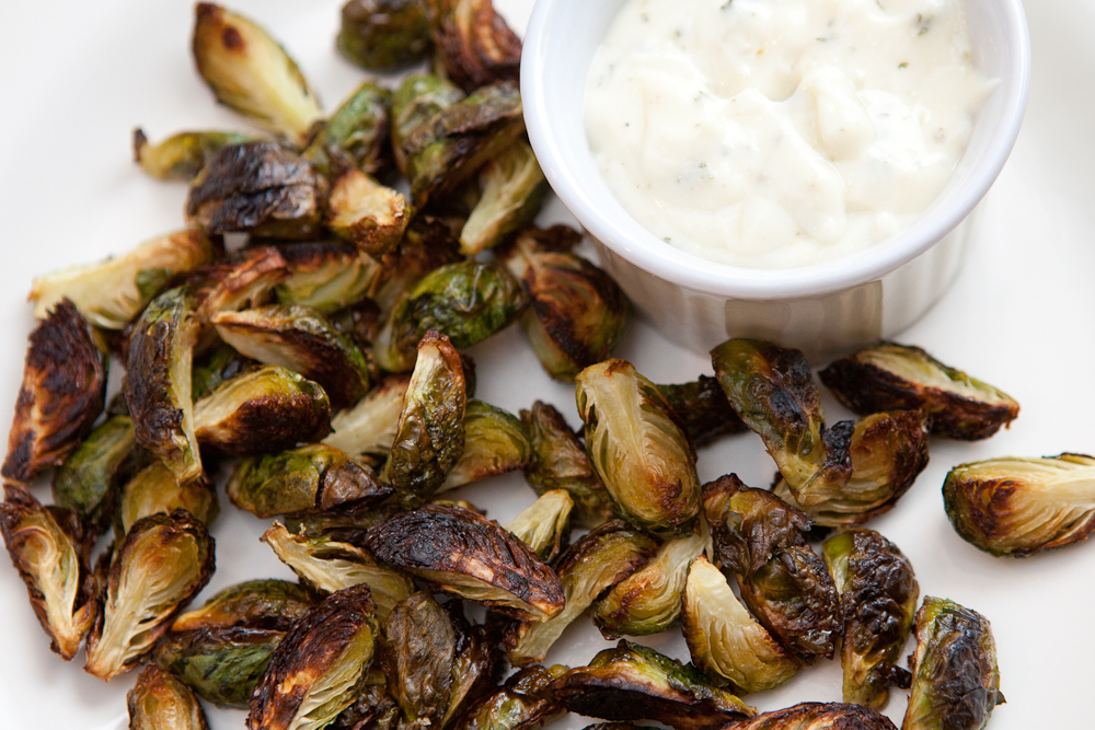 roasted brussel sprout bites via teacher-chef.com