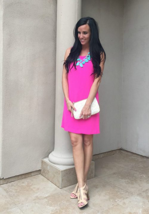 Endearing Hot Pink Shift Dress Hot Pink Shift Dress Teacher Fashionista Hot Pink Dress Long Hot Pink Dress Prom
