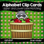 Alphabet Upper and Lowercase Clip Cards
