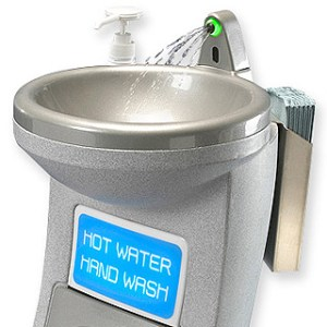 Hygienius ProWash self contained hot water hand wash station suitable for hospitals and other medical and healthcare