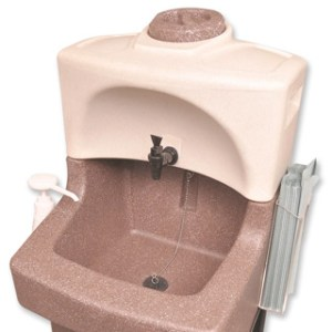 Self contained pre-heated hot water TEAL WashStand ideal for medical and healthcare sectors