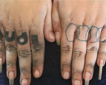 awful but funny Audi car tattoo and bad manicures!