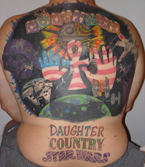 horrible back tattoos, Worst Star Wars Tattoos bad Star Wars Tattoos America's Worst, country, family, worst