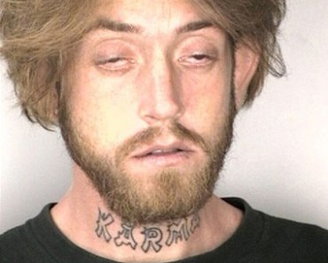 Another bad tattoo fail and mugshot worst funny bad karma from Team Jimmy Joe